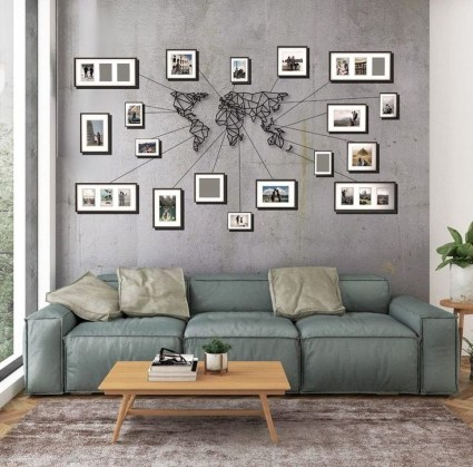 Fabulous Metal Wall Decor Ideas For Your Living Room 15