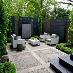 Impressive Seating Area In The Garden For Decoration 18