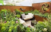 Impressive Seating Area In The Garden For Decoration 35
