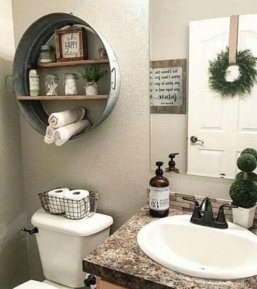 Inspiring Bathroom Decoration Ideas With Farmhouse Style 18