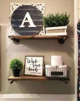 Inspiring Bathroom Decoration Ideas With Farmhouse Style 33
