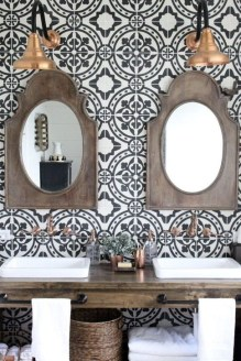 Inspiring Bathroom Decoration Ideas With Farmhouse Style 43