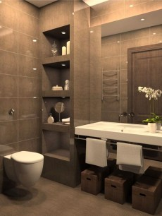 Inspiring Bathroom Design Ideas With Amazing Storage 46