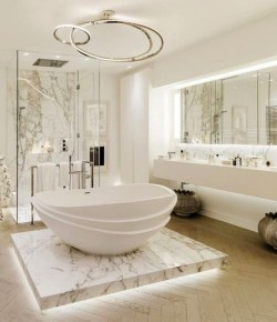 Luxurious Furniture To Upgrade Your Elegant Bathroom 40