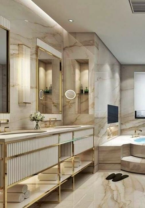 Luxurious Furniture To Upgrade Your Elegant Bathroom 46