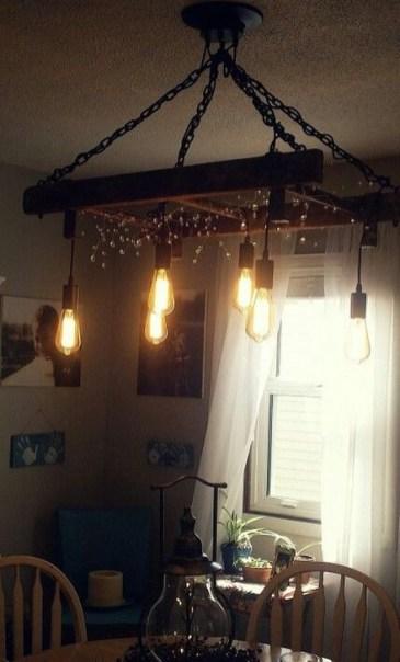 Magnificient Farmhouse Ladder Chandelier Ideas 05