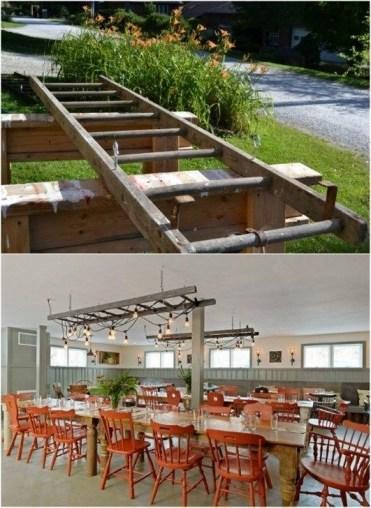 Magnificient Farmhouse Ladder Chandelier Ideas 20