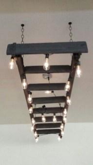 Magnificient Farmhouse Ladder Chandelier Ideas 35