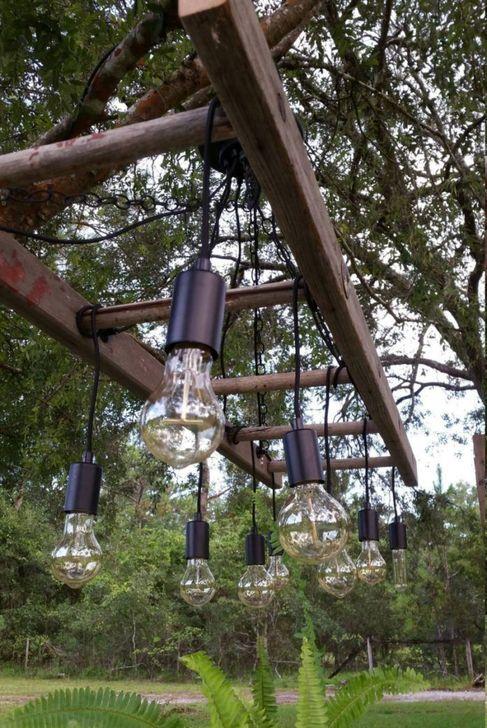 Magnificient Farmhouse Ladder Chandelier Ideas 41