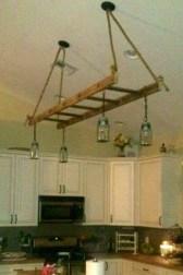 Magnificient Farmhouse Ladder Chandelier Ideas 45