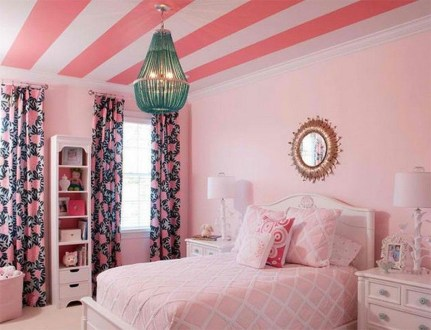 Outstanding Striped Ceiling Bedroom Decoration Ideas 01