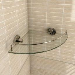 Perfect Glass Shelves Ideas For Bathroom Design 04