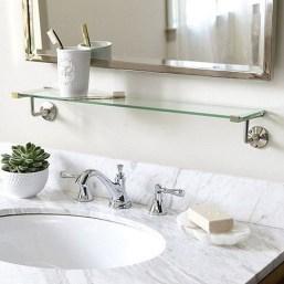 Perfect Glass Shelves Ideas For Bathroom Design 05
