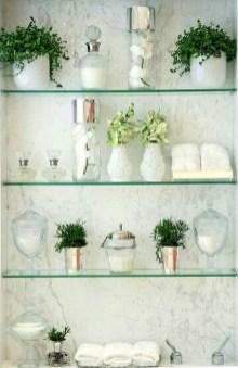 Perfect Glass Shelves Ideas For Bathroom Design 21