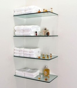 Perfect Glass Shelves Ideas For Bathroom Design 23