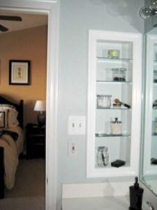 Perfect Glass Shelves Ideas For Bathroom Design 26