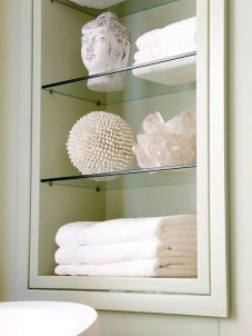Perfect Glass Shelves Ideas For Bathroom Design 27