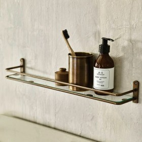 Perfect Glass Shelves Ideas For Bathroom Design 29