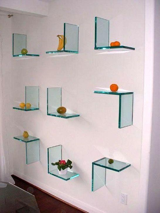 Perfect Glass Shelves Ideas For Bathroom Design 42