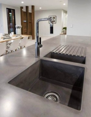 Awesome Kitchen Concrete Countertop Ideas To Inspire 15