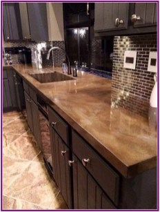 Awesome Kitchen Concrete Countertop Ideas To Inspire 28