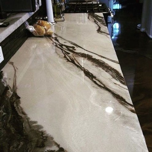 Awesome Kitchen Concrete Countertop Ideas To Inspire 44