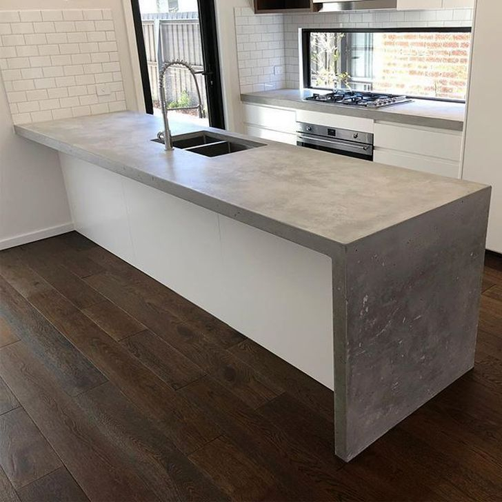 Awesome Kitchen Concrete Countertop Ideas To Inspire 53