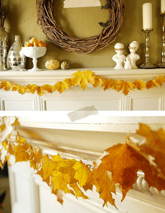 Easy And Simple Fall Garland Decoration Ideas 31