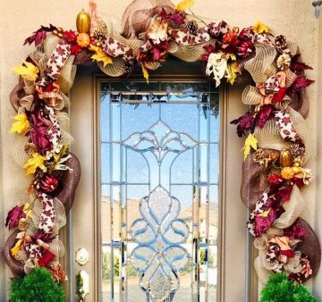 Easy And Simple Fall Garland Decoration Ideas 32