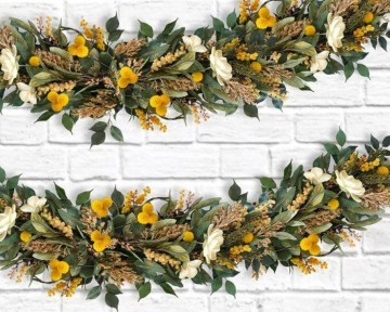 Easy And Simple Fall Garland Decoration Ideas 33
