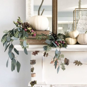 Easy And Simple Fall Garland Decoration Ideas 34