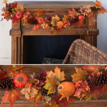Easy And Simple Fall Garland Decoration Ideas 40