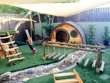 Marvelous Outdoor Playhouses Ideas To Live Childhood Adventures 05