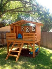 Marvelous Outdoor Playhouses Ideas To Live Childhood Adventures 08