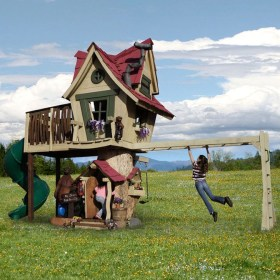Marvelous Outdoor Playhouses Ideas To Live Childhood Adventures 17