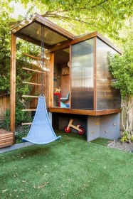 Marvelous Outdoor Playhouses Ideas To Live Childhood Adventures 18