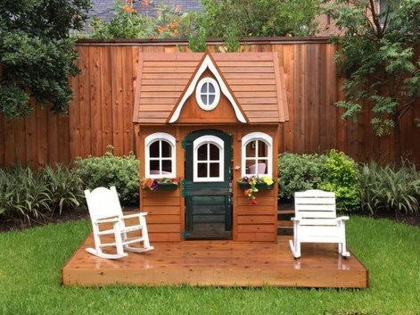 Marvelous Outdoor Playhouses Ideas To Live Childhood Adventures 52