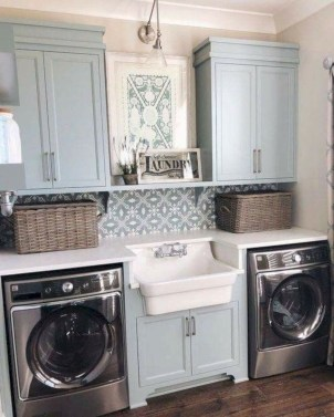 Perfect Functional Laundry Room Decoration Ideas For Low Budget 26