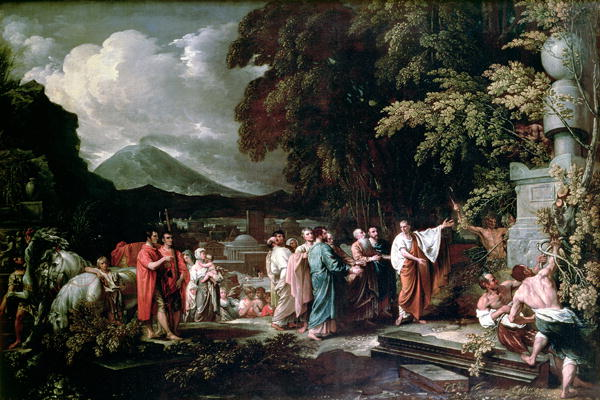 West,_Benjamin_-_Cicero_and_the_magistrates_discovering_the_tomb_of_Archimedes