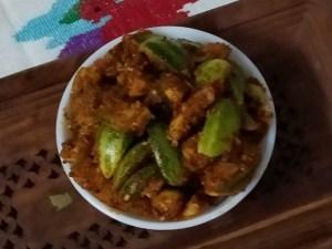 mekkekayi, mekkikayi, pickle, ಮೆಕ್ಕೆಕಾಯಿ, ಮೆಕ್ಕಿಕಾಯಿ, ಉಪ್ಪಿನಕಾಯಿ
