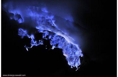 ನೀಲಿ ಜ್ವಾಲಾಮುಕಿ, blue volcano