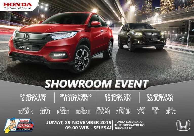 Promo Showroom Akhir Pekan Dealer Honda Solo Baru