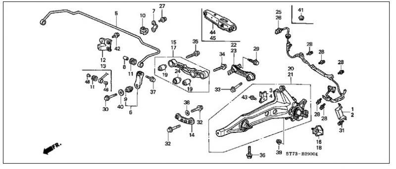 2003 honda element rear suspension diagram honda cars