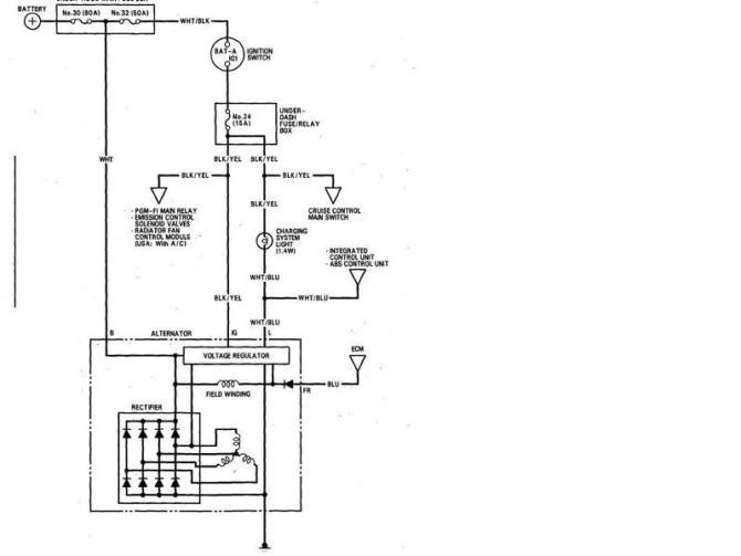 alternator wiring for 2000 honda civic  99 dodge ram fuse