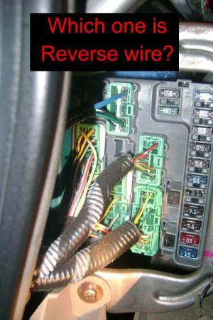 Honda Accord 1998 EXV6 Coupe VSS and reverse wires (PICS