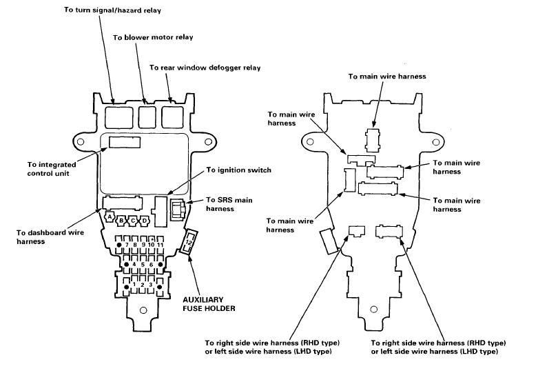 1996 Honda Accord Interior Fuse Box Diagram ...