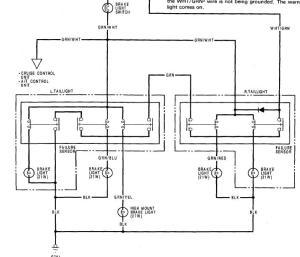 electrical issue no brake lightshorn (90 accord) plz help