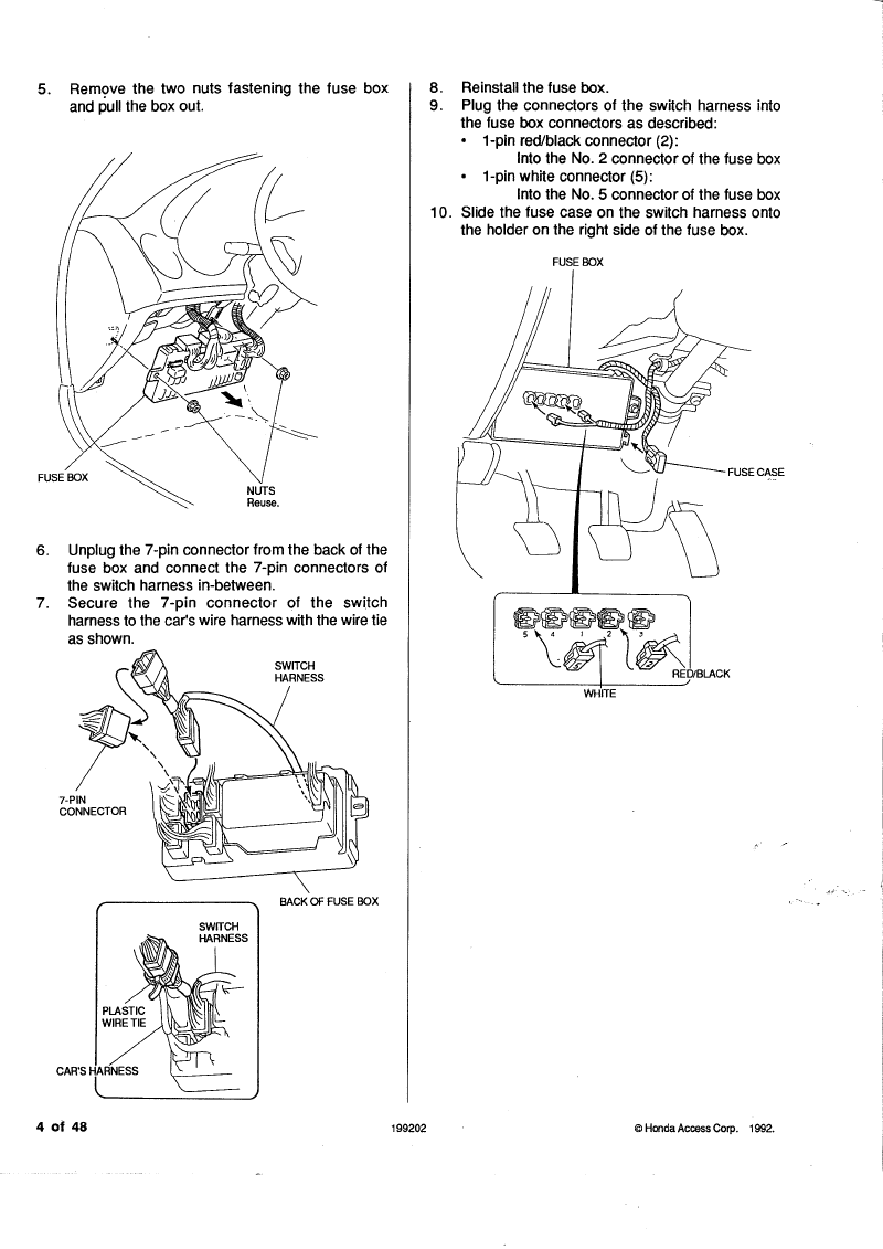 1992 Honda Civic Headlight Switch Wiring Diagram Diagrams For 97 Del Sol Lights Manual Guide U2022 Harness