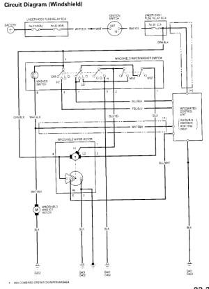 Wiper Motor Wiring Question  HondaTech