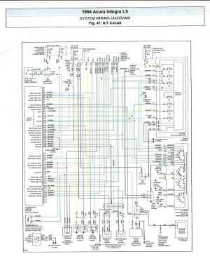 Integra TCM wiring schematic for Auto swap  HondaTech